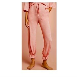 Anthropologie Pale Peach Joggers